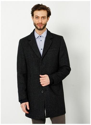 Fabrika Comfort Fabrika Comfort Erkek Yaka Düz Siyah Kaban Siyah